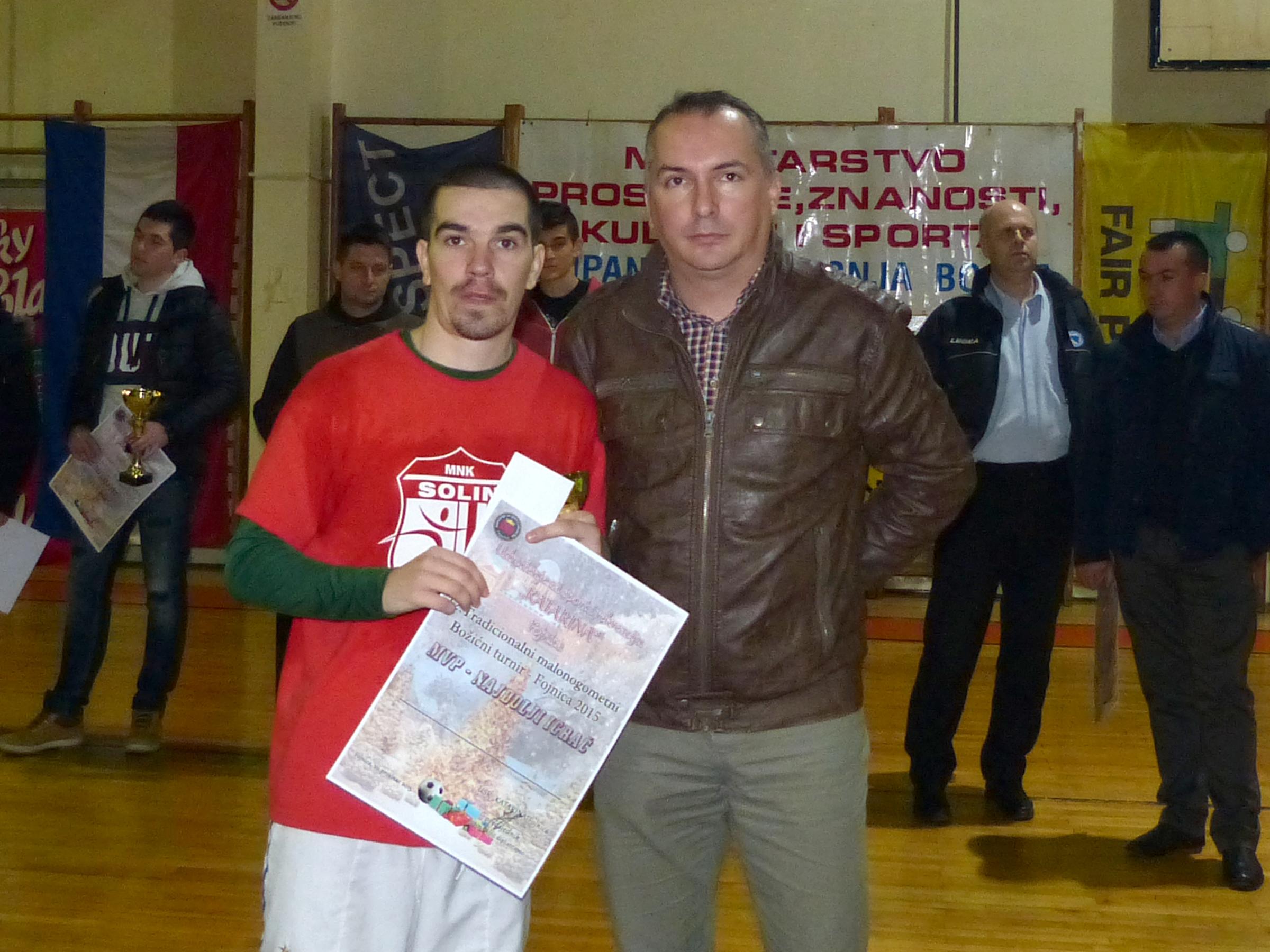 Dražen Novoselac (najbolji igrač prošlogodišnjeg turnira)